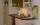 Küche mit Backofen, Mikrowelle und Spülmaschine